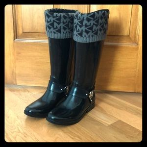 Michael Kors tall rain boots with boot inserts
